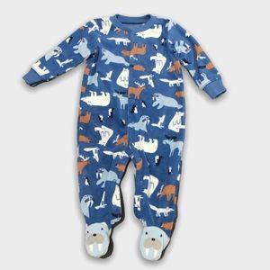 4/$20🥳 Animal Print Dark Blue Fleece Sleeper